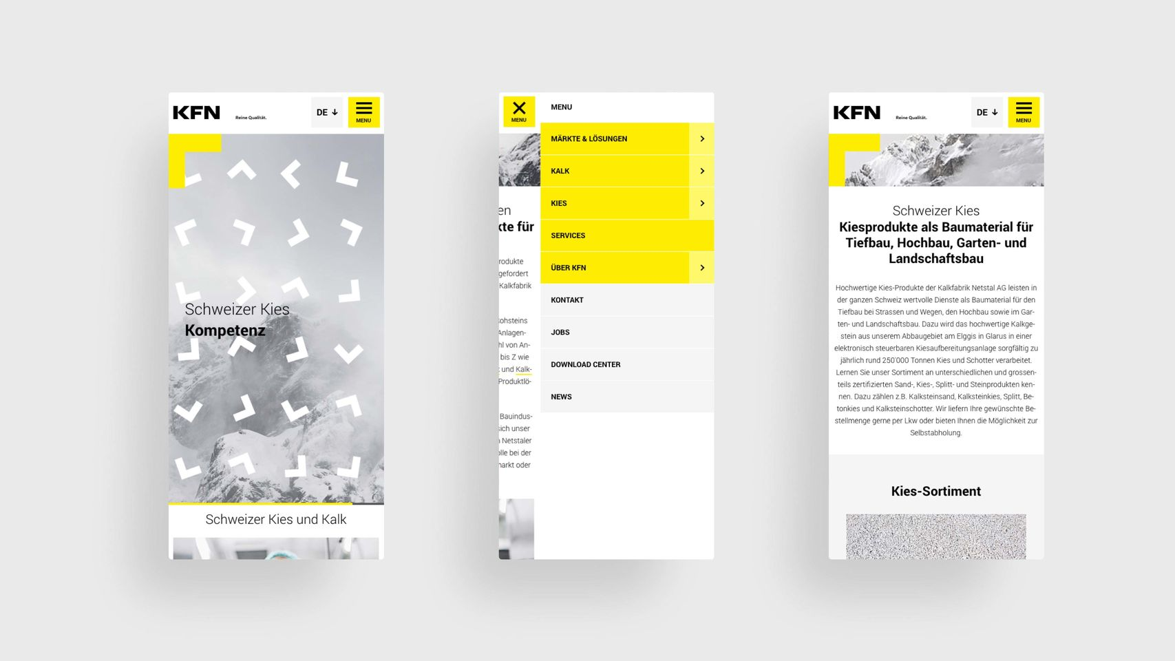KFN - Webseite mobile